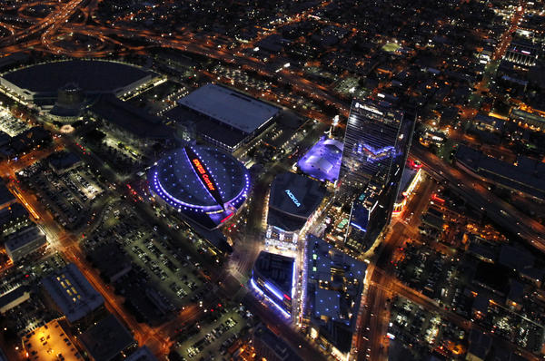 Pictures Of La An aerial view of L A Live