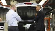 With Washington in political gridlock over spending, President Barack Obama traveled Friday to Argonne National Laboratory to announce an energy proposal that would secure money for advanced vehicles by diverting federal revenue from offshore oil and gas production.