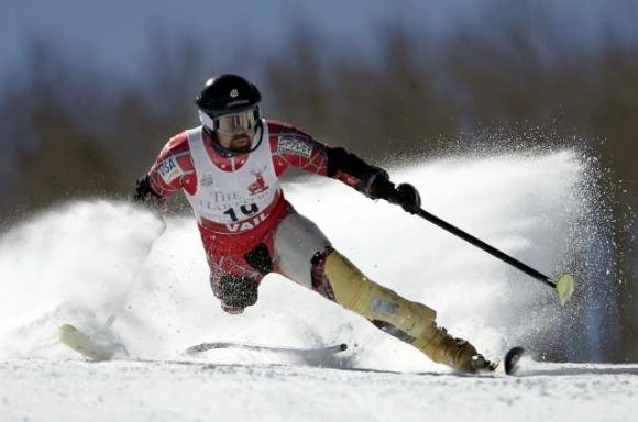 Disabled skier Monte Meier winning U.S. title
