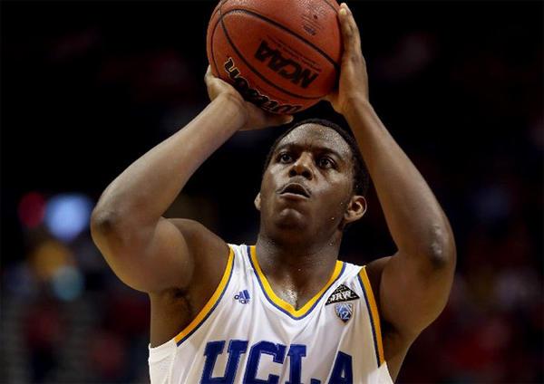 UCLA's Jordan Adams shoots a free throw against the Arizona Wildcats.