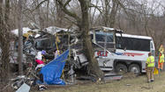 A bus carrying the Seton Hill University women's lacrosse team crashed Saturday morning, killing two people and sending several others to the hospital.