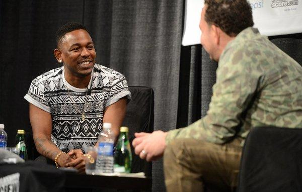 Kendrick Lamar (left) with Jessie Wright