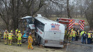 PICTURES: Two dead in college lacrosse team bus crash