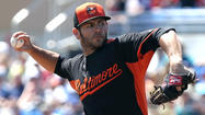 DUNEDIN, Fla. -- As the competition for the Orioles' fifth rotation spot begins to heat up, right-hander Jake Arrieta made his case Saturday afternoon, throwing 4 2/3 shutout innings in a 3-1 win over the Toronto Blue Jays at Florida Auto Exchange Stadium.