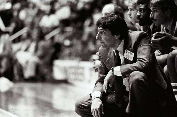 "Jim Valvano in a scene from the ESPN 20 For 30 documentary, ""Survive and Advance."""