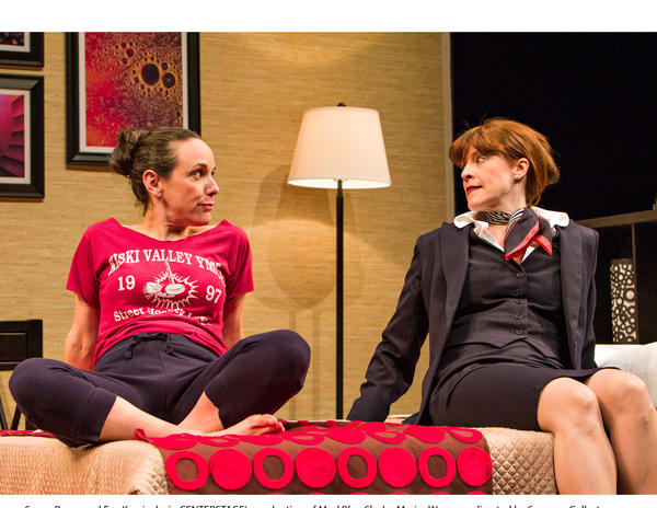 "Susan Rome and Eva Kaminsky in Center Stage's production of ""Mud Blue Sky"" by Marisa Wegrzyn, directed by Susanna Gellert."