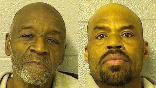 Booking photos of Mack W. Herron, left, and Ted Golliday.