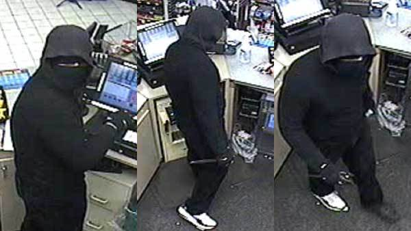 Surveillance photos of a suspect in a slaying at a gas station in Streamwood.