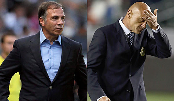 Coach Bruce Arenas, left, and the Galaxy will face a different-look Chivas USA on Sunday, including new Head Coach Jose Luis Sanchez Sola.