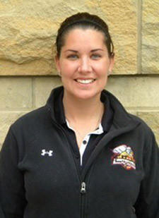 Kristina Quigley, head coach of the Seton Hill University women's lacrosse team, is pictured in this undated handout photo from Seton Hill University. Quigley was killed when a bus carrying the Seton Hill women's lacrosse team crashed on the Pennsylvania Turnpike, killing the driver and Quigley.