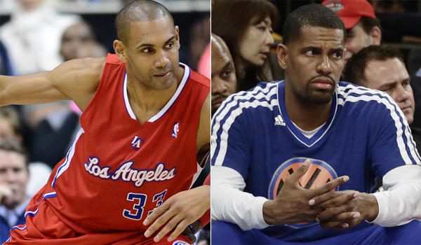 Clippers' Grant Hill, left, Hill is part of one of the best benches in the NBA, capable of locking down a top scorer while knocking down a couple of shots; New York's Kurt Thomas has become very relevant to the Knicks' playoff hopes with several teammates either slowed or sidelined with injuries.