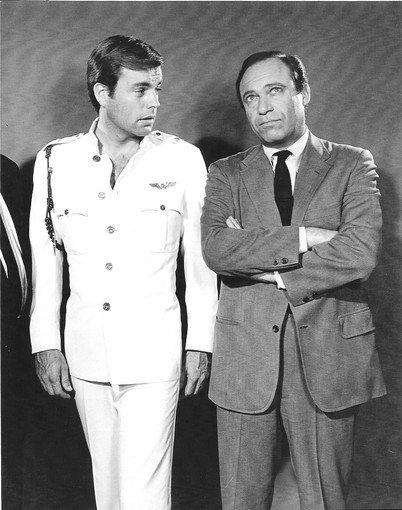 "Malachi Throne, right, and Robert Wagner in the 1960s TV series ""It Takes a Thief."""