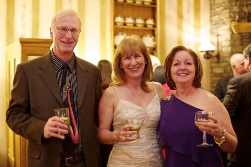 From left: Dan McKeever and wife Dawn Andresen, and Diane Strano at the annual fundraising gala for The Interval House at The Society Room in Hartford on Saturday.