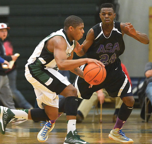 Donte Thomas, left, has become the ignitor of Hagerstown Community College's offense this season.