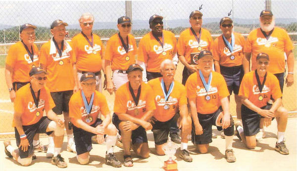 The Hamel Cavalier 70s slow-pitch softball team was inducted into the Washington Area Softball Hall of Fame. The team features two players - Bud Allen and Skip Poffenberger (back row, second and third from right) - from Washington County who also play in the local senior softball league. The Cavalier 70s won numerous championships from 2009 to 2012, including the USA National tournament, East Coast Championships in North Carolina, Atlantic Coast Championships in Virginia and World Cup titles in Phoenix and Salem, Va.