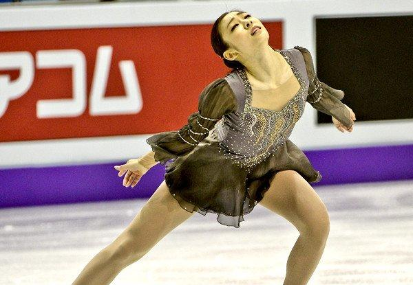Yuna Kim performs her routine during the free skate on Saturday night at the world championships.