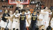 ANAHEIM — The UC Irvine men's basketball team played its way to the verge of history Saturday night, before succumbing to Pacific, 64-55, in the final conference game for the Tigers' retiring coach.