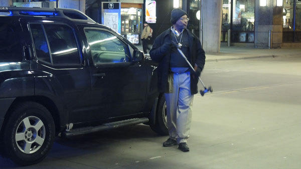 Two people were hit by an SUV under the CTA station on Fullerton Avenue.