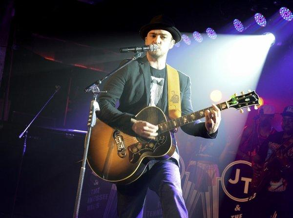 Justin Timberlake performing at South by Southwest in Austin, Texas.