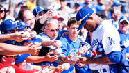 PHOENIX – Carl Crawford will play his first-ever game for the Dodgers Sunday, as he is in the lineup as their leadoff hitter in their split-squad game against the Milwaukee Brewers at Camelback Ranch.