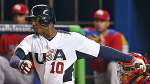 Orioles center fielder Adam Jones back from WBC