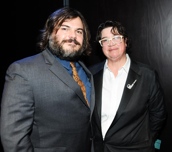 Jack Black and Catherine Opie at the 2013 REDCAT Gala honoring Opie and the Walt Disney Co.