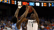 <b><big>Miami 87, North Carolina 77</big></b>