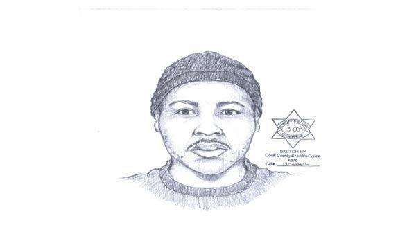 Composite drawing of a suspect in a March 7, sexual assault on the 2400 block of West 65th St.