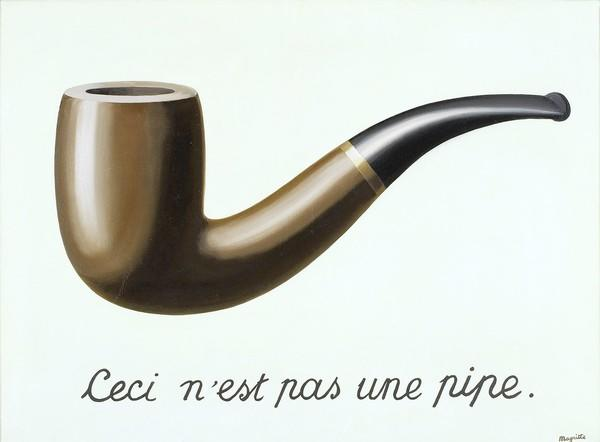 "Rene Magritte's ""The Treachery of Images (This is Not a Pipe),"" 1929 oil on canvas."