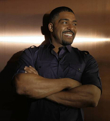 "Actor/wrestler David Otunga at Howells & Hood restaurant in Chicago. Otunga is promoting his new movie ""The Call."""