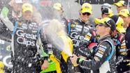 Kasey Kahne gets his first Sprint Cup victory at Bristol