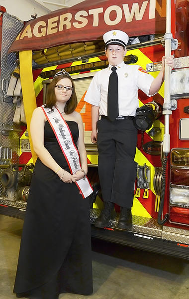 Rebecca Coffin, 16, was named Miss Washington Co. Fire Prevention and Logan Fishack, 10, was named Junior Fire Chief by the Washington County Volunteer Fire and Rescue Association Sunday.