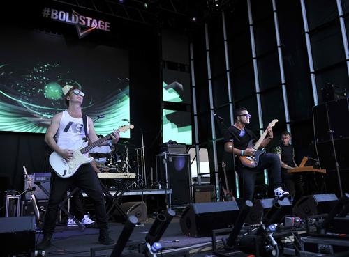 New Zealand rock band Six60 performs.