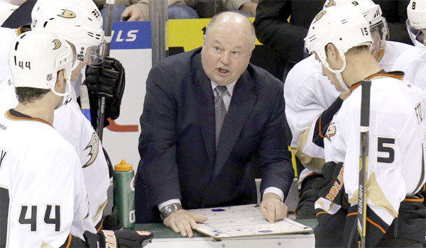 Bruce Boudreau and the Ducks currently sit atop the Pacific Division with 44 points.