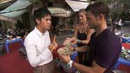 "Remember last week on ""The Amazing Race,"" when John had a few extended moments of crazy and got eliminated? That's still funny. But now it is time for the teams to leave Bali and head to Vietnam. ""Word on the street,"" tweets Phil, ""is that Hotel California by the Eagles is the #1 karaoke song in Vietnam."""