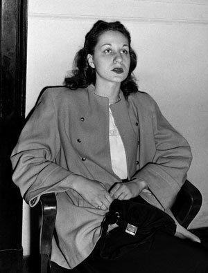 On June 16, 1949, Ruth Steinhagen, 19, appeared in felony court in Chicago for her hearing on charges of assault with intent to murder in the shooting of Philadelphia Phillies first baseman Eddie Waitkus at a Chicago hotel two days earlier.