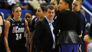 Undaunted by three previous defeats to Notre Dame this season, UConn coach Geno Auriemma said Monday he's confident the result will be different if the teams meet again at the women's basketball Final Four in New Orleans.