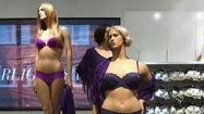 Two female mannequins with more meat on their plastic bones than the standard department-store dummy are causing a social media ruckus – and not just because they're clad only in lingerie.