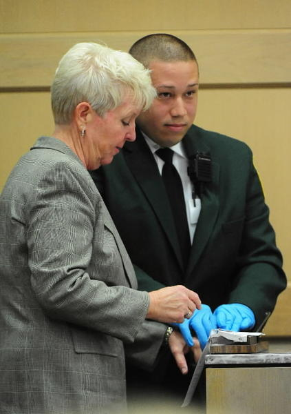 Former Fort Lauderdale Commissioner Cindi Hutchinson gets fingerprinted after she's sentenced to four months in jail.