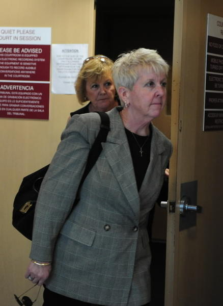 Former Fort Lauderdale City Commissioner Cindi Hutchinson leaves a Broward courtroom Monday, March 18, after pleading guilty to unlawful compensation and official misconduct charges. Hutchinson reports back on April 15 to begin serving a 4-month jail term.