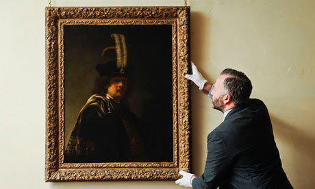 A painting hanging in a British abbey discovered to be a Rembrandt self-portrait is estimated to be worth $30 million.