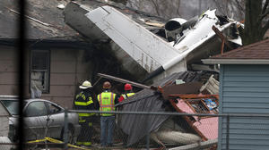 South Bend plane crash: 'I saw glass, insulation flying, smoke'
