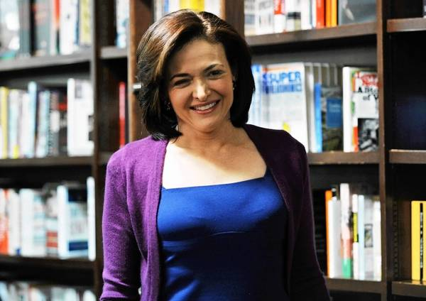 """Sheryl Sandberg, chief operating officer of Facebook Inc., arrives at a Barnes & Noble Inc. store to speak about her new book """"Lean In"""" in New York, U.S., on Tuesday, March 12, 2013. Sandberg's book, released on March 11, advises women to get over their ambivalence about being ambitious, think big and take risks."""