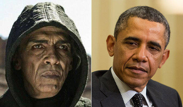"Some viewers of ""The Bible"" have remarked on the resemblance between Moroccan actor Mehdi Ouzaani and President Obama."