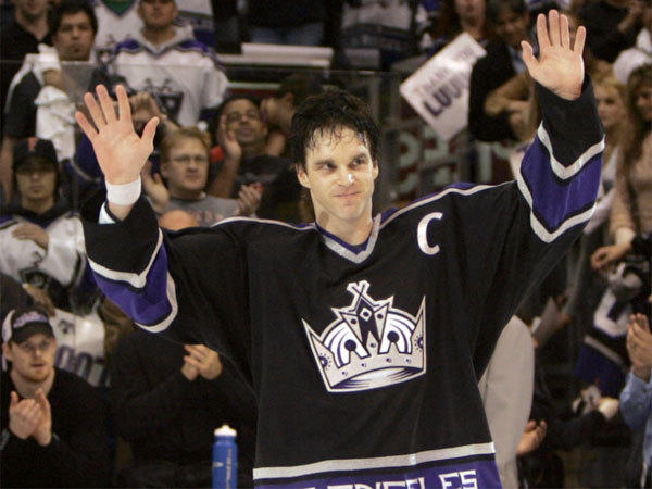 The Kings' crown/black jersey, worn by Luc Robitaille in his final game in 2006, is being retired.