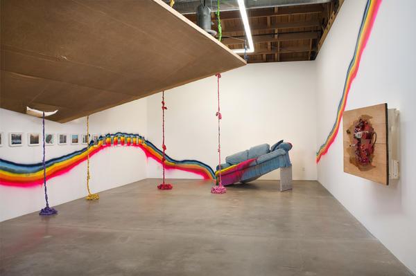 Installation by Olga Koumoundouros at Susanne Vielmetter Los Angeles Projects.
