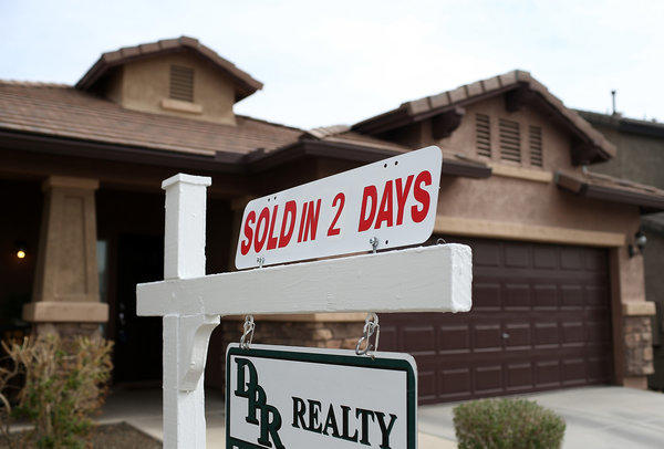 "Rising home prices are helping homeowners escape ""negative equity"" positions. Above, a home for sale this month in Phoenix."