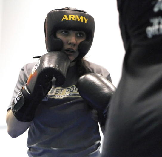Former Boone 3-sport athlete Molly Box competes for the women's club boxing team at Army. (Photo courtesy of the U.S. Military Academy)