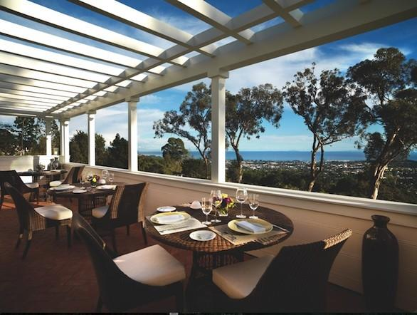 The views from the restaurant at El Encanto in Santa Barbara, which reopened Monday after a seven-year renovation.