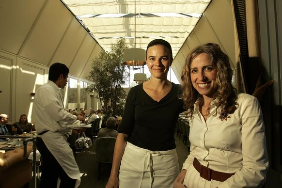Chef Suzanne Goin, left, and wine director Caroline Styne, co¿owners of Tavern Restaurant in Brentwood and Lucques.